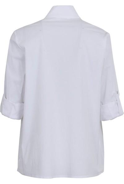 Bize Fashion 344 Kadın Gömlek Beyaz