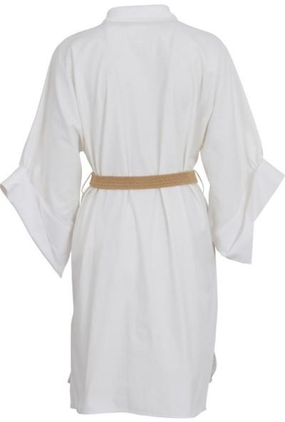Bize Fashion 400 Kadın Gömlek Beyaz