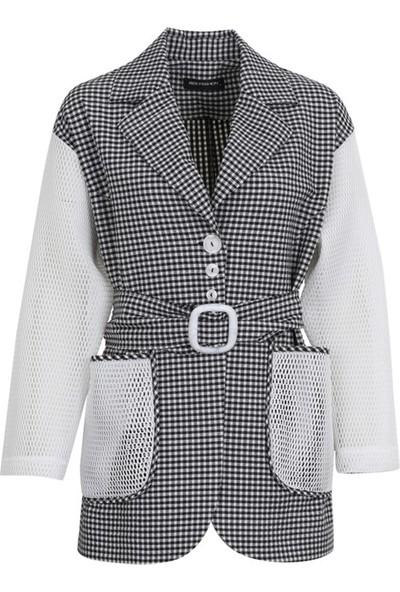 Bize Fashion 1152 Kadın Ceket Siyah