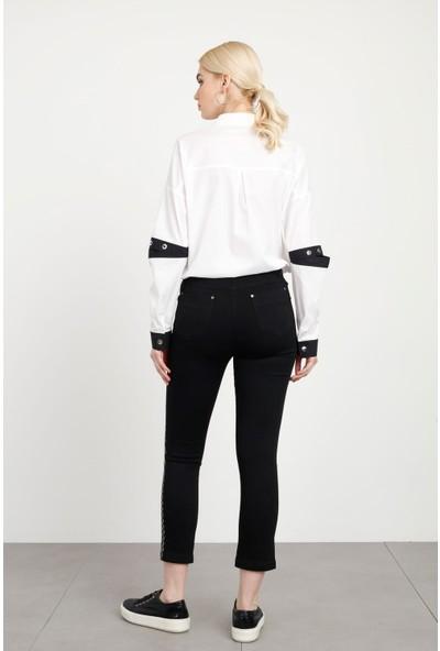 Moda İlgi Taşlı Dar Paça Jeans Kadın Kot Pantolon 1974035