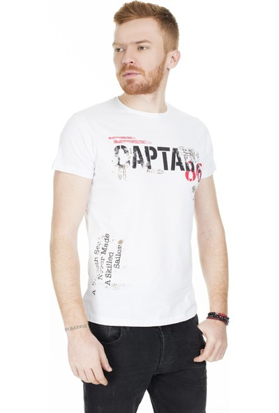 Buratti Baskılı Bisiklet Yaka T-Shirt Erkek T-Shirt 54110A