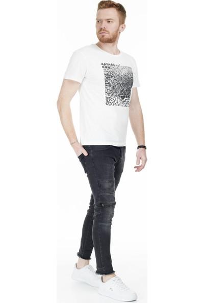 Jack & Jones Jorleoskull T-Shirt Erkek T-Shirt 12168220