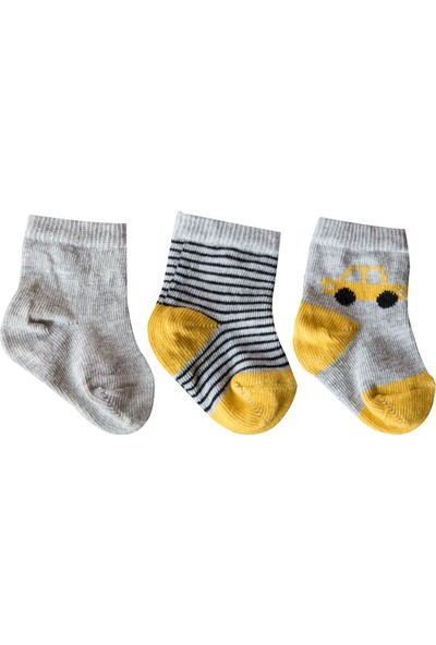 Olay Yeni Doğan Soket Çorap 8.01.0011 3'lü Renkli 0 - 6 Ay