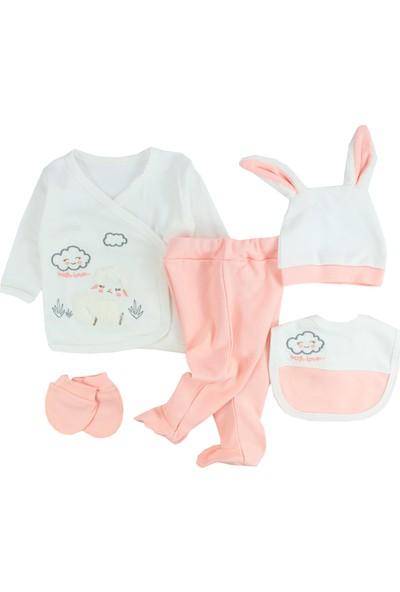 Nonna Baby Sevimli Kuzu Temalı 5 Parça Hastane Çıkışı 5572