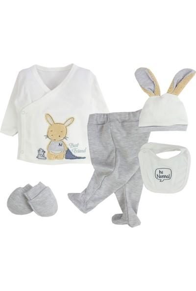 Nonna Baby Uykucu Tavşan Temalı 5li Erkek Bebek 5 Parça Hastane Çıkışı582