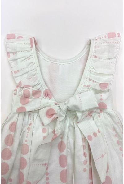 Colored Baby Kız Çocuk Şapkalı Fırfırlı Elbise 2 Parça