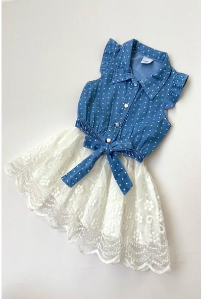 Colored Baby Kız Çocuk Kot Gömlekli Etek Takım 2 Parça
