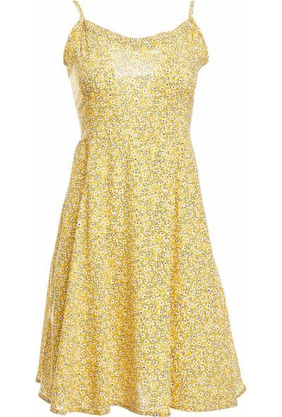 DeFacto Askılı Desen Detaylı Dokuma Elbise R1183AZ20SM