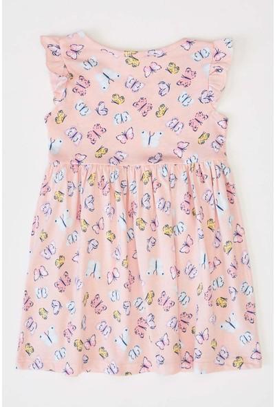 DeFacto Kız Bebek Kelebek Baskılı Elbise