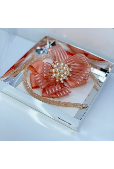 Queen Accessories Somon Incş Broşlu Şerit Kurdele Luxury Anne Kız Çocuk Kına Düğün Tak Çıkar Taç