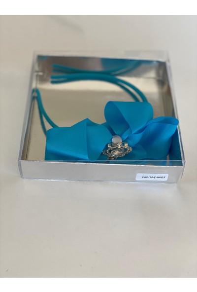 Queen Accessories Mavi Queen Taşlı Anne Kız Çocuk Bebek Kına Düğün Taç