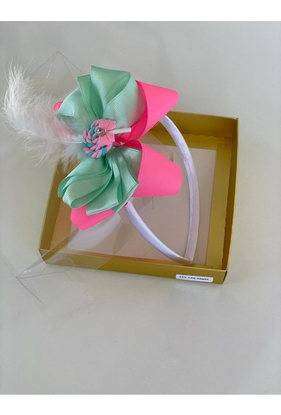 Queen Accessories Mint - Neon Bembe Lolipop Lu Anne Kız Çocuk Bebek Taç
