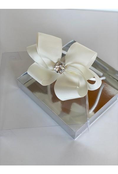 Queen Accessories Kırık Beyaz Kristal Taşlı Anne Kız Çocuk Bebek Kına Düğün Taç