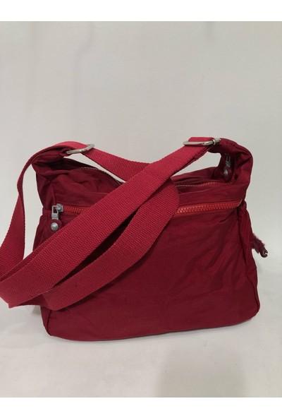 Elizabell Çok Gözlü Kadın Krinkıl Kumaş Çapraz Askılı Çanta Ebat 32Cm X 28Cm