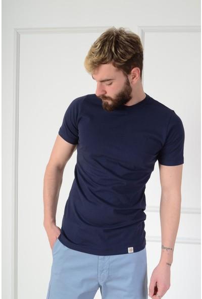 Luppo Club Basic Slim Fit Lacivert Erkek T-Shirt M