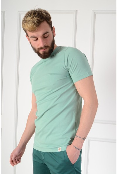 Luppo Club Basic Slim Fit Yeşil Erkek T-Shirt L