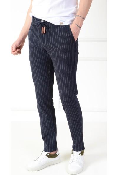 Luppo Club Gofre Yazlık Kumaş Slim Fit Lacivert Erkek Pantolon 31