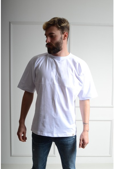 Luppo Club Oversized Beyaz Erkek T-Shirt Xl