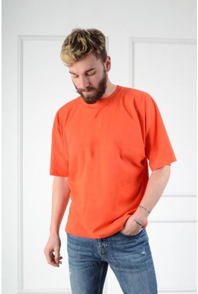 Luppo Club Oversized Nar Çiçeği Erkek T-Shirt S