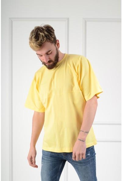 Luppo Club Oversized Sarı Erkek T-Shirt L
