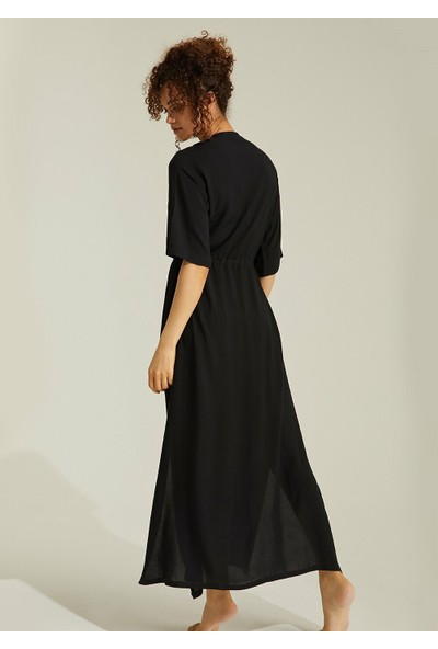 Suwen Alice Plaj Elbisesi - Siyah L