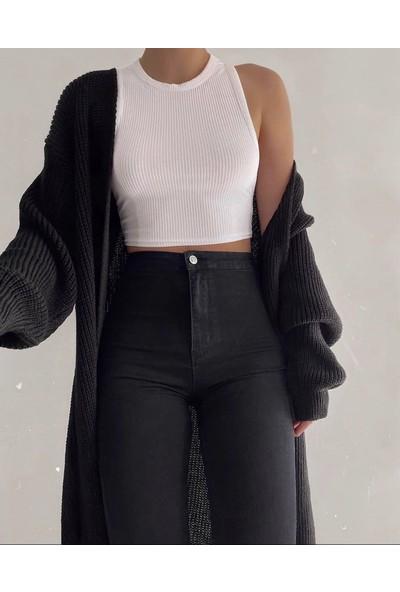 Moda Çelikler Siyah Toparlayıcı Pantolon