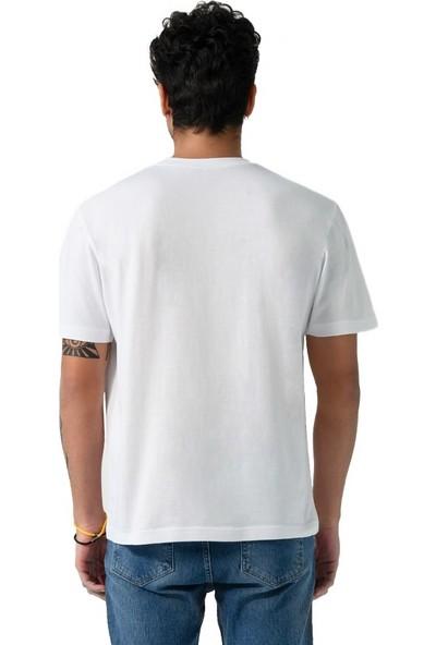 Schmart Kelime Işlemeli Oversize Basic T-Shirt