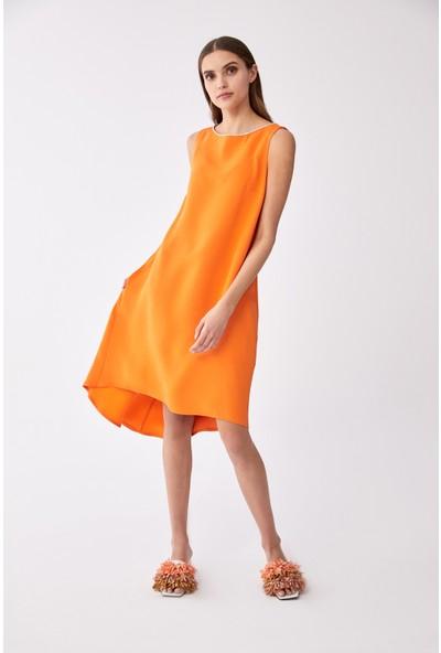 Roman Oranj Elbise-Y2011502-011