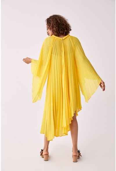 Roman Sarı Abiye Elbise