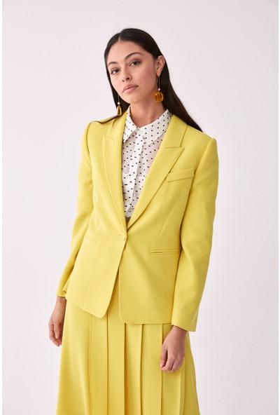 Roman Klasik Sarı Ceket-Y2016015-009