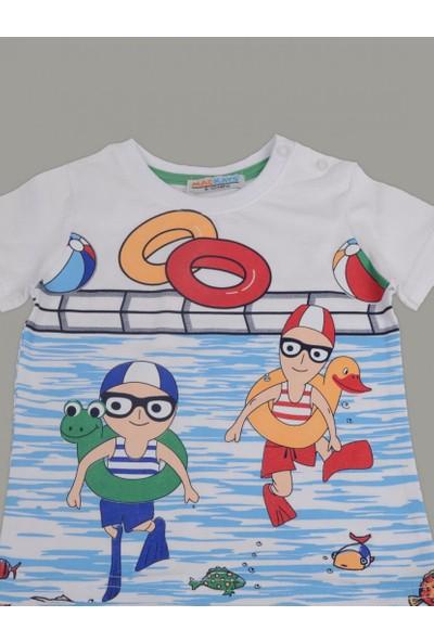 Mackays Havuzda Yüzen Çocuklar Şortlu Takım