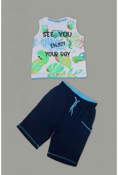 Mackays Renklı Baskılı Atlet Şortlu Takım