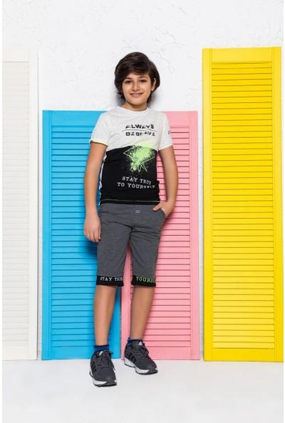 Mackays 2 Renklı Neon Baskılı Şortlu Takım