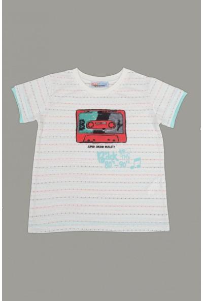 Mackays Kaset Baskılı Tshirt