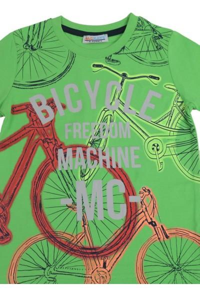 Mackays Büyük Bisiklet Baskılı Tshirt