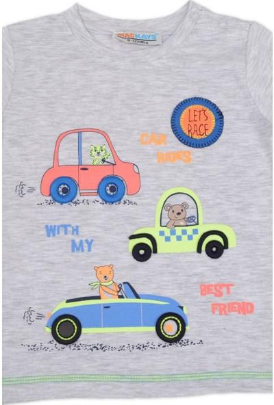 Mackays Minik Arabalı Baskılı Tshirt