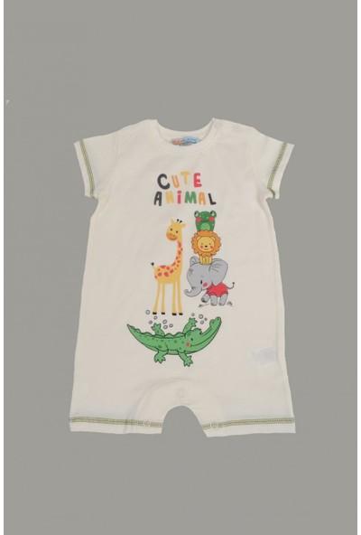 Mackays Cute Anımal Baskılı Bebe Tulum