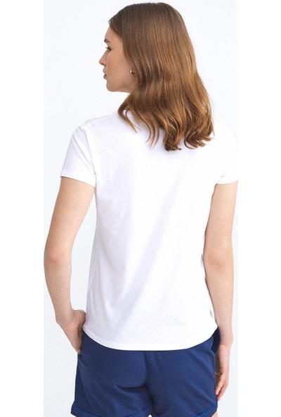 Xint Pamuklu Baskılı Rahat Kesim T-Shirt