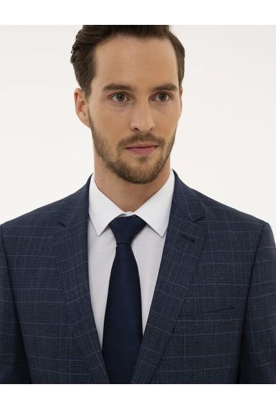 Pierre Cardin Ekose Mavi Slim Fit Takım Elbise 50224045-VR028