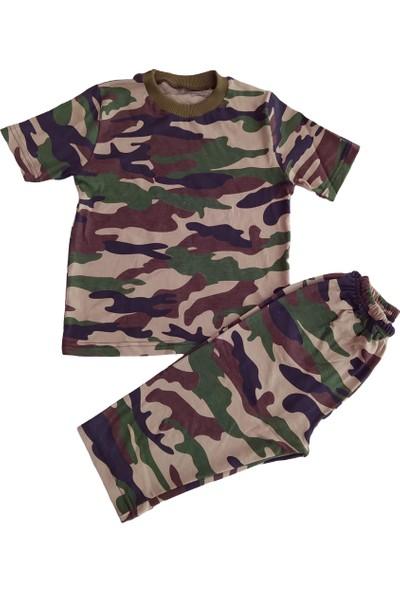 Inci Mercan Kamuflaj Desenli Pijama Takımı