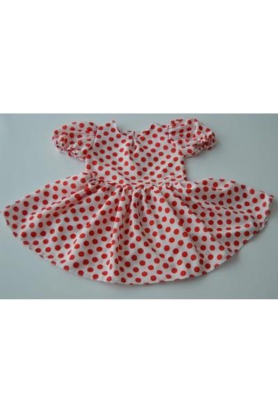 Inci Mercan Kız Çocuk Kırmızı Benekli Elbise