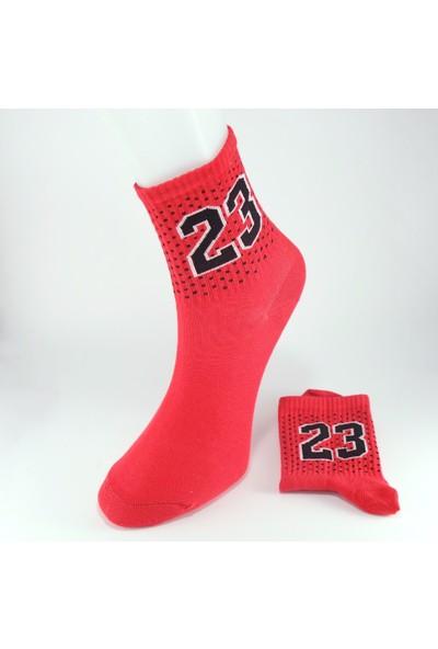 Cool Store Kırmızı Kolej Çorap