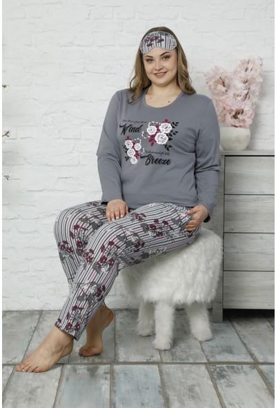 Pijama Evi Wind Breeze Uzun Kollu Büyük Beden Battal Pijama Takımı