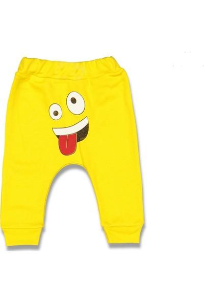 Cantaz Pörtlek Göz Emoji Bebek Pantolon Tek Alt