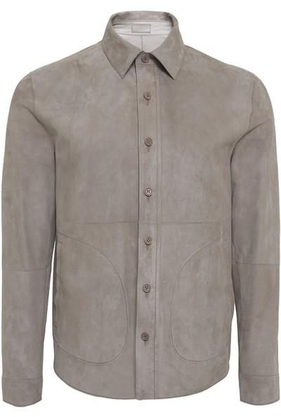 Desa Maynor Erkek Çift Taraflı Deri Gömlek Ceket