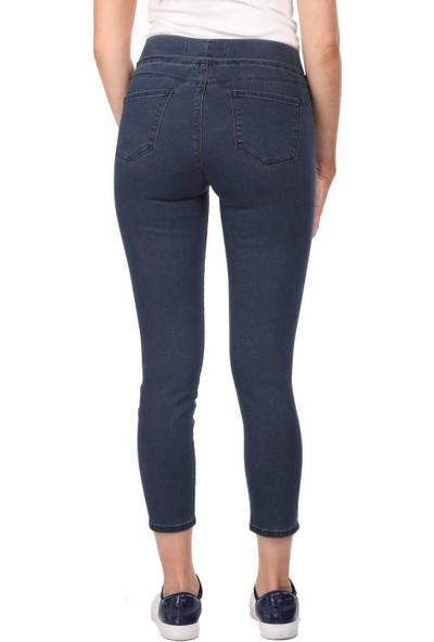 Blue White Kadın Cep Detaylı Tayt Pantolon