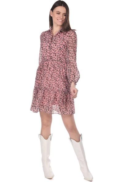 Markapi̇a Woman Çiçek Desenli Şifon Elbise