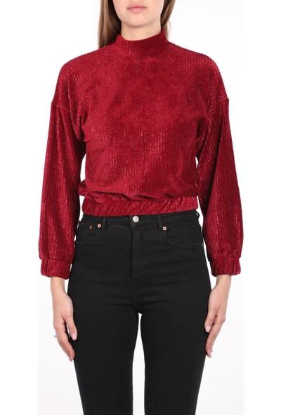 Markapia Woman Dik Yaka Kadife Bluz