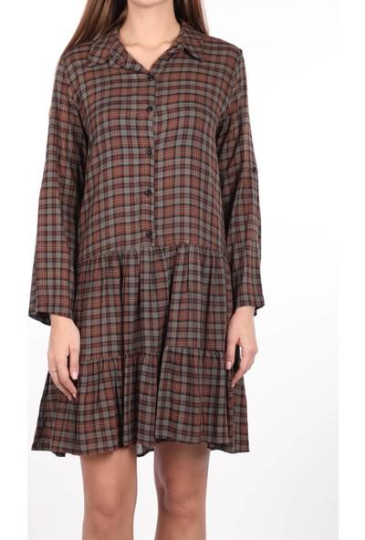 Markapia Woman Fırfırlı Gömlek Elbise