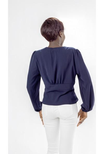 Jacket & Vest Bedene Oturan V Yaka Lacivert Gömlek 36